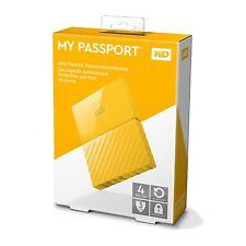 "4TB 2.5"" WD My Passport Ultra Portable External Hard Drive USB 3.0 HDD Yellow"