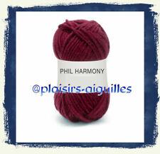 10 pelotes de laine PHIL HARMONY GRENAT neuve