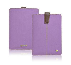 APPLE iPad mini Case PURPLE Canvas NueVue SANITIZING Screen Cleaning Sleeve