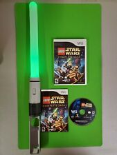 Star Wars: The Complete Saga Nintendo Wii Game with Lightsaber Accessory TESTED
