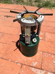1942 Coleman 520 Civil Defense Military Stove W/Canister Nos