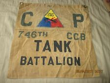 WWII USA 746 TH CCB TANK BATTALION  COMMAND POST    FLAG