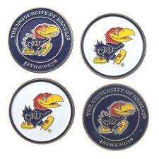 Kansas Jayhawks (Ku) Golf Ball Markers (Set of 4)