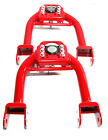 Front Upper Camber Kit Red For 1992-1995 Honda Civic 94-01 Acura Integra