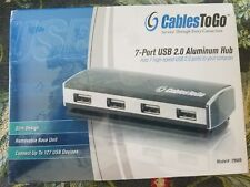 Cables to Go 29509 7-Port USB2.0 Aluminum Hub For Chromebooks, Laptops, and more