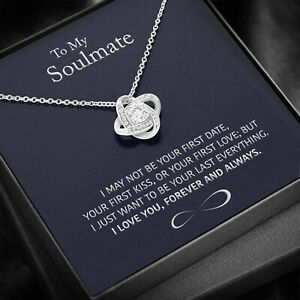 To My Soulmate Necklace Pendant Valentine Gift For Wife, Girlfriend From Husband