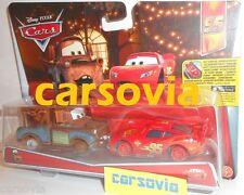 MATER & McQUEEN WITH NO TIRES - Disney Pixar Cars Mattel diecast vehicles toy