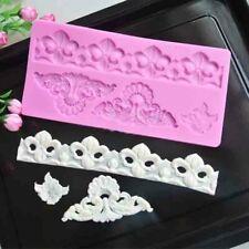 Flower Lace Mat Silicone Fondant Mould Cake Mould Sugarcraft Decor Border Mould