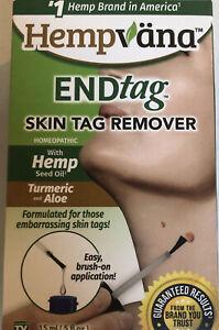 HEMPVANA Endtag 15ml Natural Skin Tag Remover W/ Hemp Seed Oil, Turmeric, Aloe