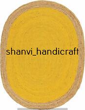 Natural Braided Oval Rugs Jute 6x9 Feet Floor Rugs Home Living Area Rug Yoga Mat