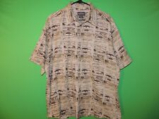 Woolrich Mens Size L Large Fishing / Fish Lure Geometric Pocket Button Shirt