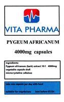 Pygeum Africanum 4000mg 365 Kapseln Prostata Gesundheit. Haarausfall