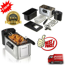 NEW Hamilton Beach 8-Cup (2L) Deep Fryer Professional Black/Stainless Steel