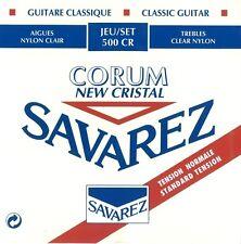 Savarez 500CR Cristal Corum Red S/plated Standard Classical Guitar Nylon Strings