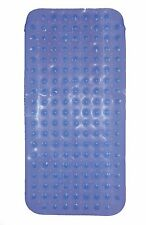 BLUE Non Slip Extra Long Childrens/Adults Bath Mat - Ideal For 2 or More Kids