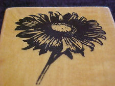 Sunflower Wood Mounted Stamp From Back Street OOP Flower
