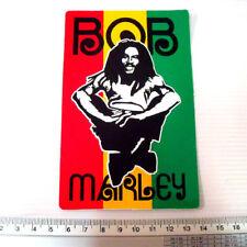 Bob Marley Reggae Decals Sticker size 8.5x13 cm.
