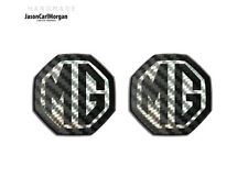 MG ZS ZR MGF Badge Insert Front Grill Rear Boot MG Logo Badges 59mm Black Carbon