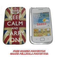 Pellicola + custodia BACK IMD UK KEEP CALM per Samsung Galaxy Ace Duos S6802