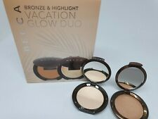 BECCA Vacation Glow Duo 2.3g Each Travel Size Shimmering Skin Perfector, Bronzer