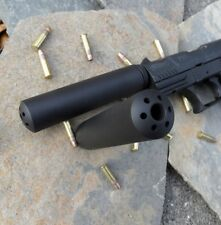 """1/2-28 Muzzle Brake (PB-1) 4 1/2"""" Long  For Cal .22, .223 (Made In USA)"""