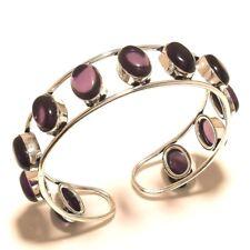 Amethyst Free Shipping Cuff Bangel Silver Plated Gemstone Jewellery Wp514