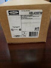 HUBBELL WATERTIGHT PIN & SLEEVE FLANGED INLET HBL420B7W 20A/480VAC/3POLE/4W NIB