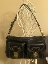 Coach Legacy Black Shoulder Bag Leather
