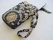 "Vera Bradley CAFFE LATTE Phone Wristlet Wallet 5 ½"" x 3 ¼"" x 1"" USED"