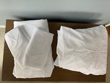 Restoration Hardware Italian Ultra-Soft Percale Sheet Set White Cal King 340 TC