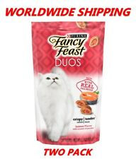 Purina Fancy Feast Duos Cat Treats Salmon Flavor 2.1 Oz TWO PACK WORLD SHIPPING