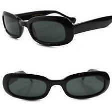 Classic Genuine Vintage Deadstock Urban Old Fashion Black Rectangle Sunglasses