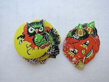 Vintage 1950s Package of Halloween Seals w/ Pumpkin and Owl Seals