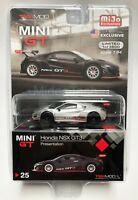 TSM Mini GT 1:64 HONDA NSX GT3 Presentation 2017 Raw Chase Car MGT00025