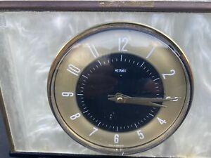 Vintage Retro Metamec Onyx Mantle Clock