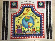 Kimberlys Classroom Apron Coasters Fabric Panel Teacher Art Kimberly Montgomery