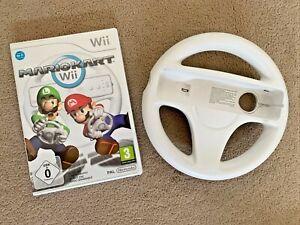 Mario Kart Wii - Nintendo Wii Game With Manual & Steering Wheel - UK Pal