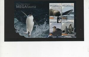 Ross Dependency stamps 2021 MEGAfauna Miniature Sheet used First Day Issue