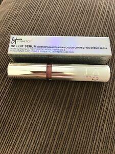 It Cosmetics CC + Lip Serum Color Correcting Creme Gloss — Live (rose) — New —