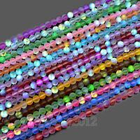 Matte Mystic Aura Quartz Gemstone Loose Beads Holographic Quartz 6mm 8mm 10mm