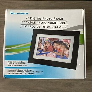 PANIMAGE 7 INCH DIGITAL PHOTO FRAME LED SCREEN - WORKS AND IN BOX