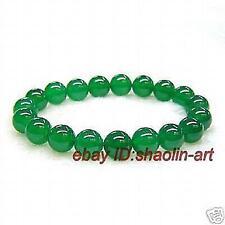 cadeaux de Noël, Mode,8mm verte de jade bracelet , extensible, 18cm