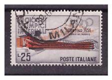 CORTINA  1956 -  25 LIRE   ROSSO  SPOSTATO   USATO