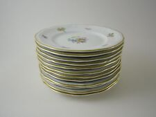Rosenthal CHIPPENDALE 12 x Brotteller Teller 15,5 cm 2365 Blumen Goldrand