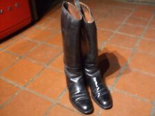 GENUINE VINTAGE LONG LEATHER RIDING BOOTS MANFIELD AND SON LONDON -PARIS Size 7