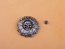 3.2x3.2cm 10pcs Antique Silver Roman No. Skull Conchos Rivet Stud Leather Wallet