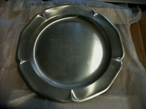 RARE 1970 AFL FOOTBALL ALL STAR GAME PEWTER PLATE LAST AFL GAME EVER PLAYED, NEW