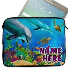"""Personalised Tablet Case DOLPHIN SEALIFE Sleeve Cover 7"""" 8"""" 9"""" 10"""" ST122"""