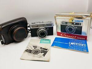 Vintage Canon Canonet Junior 35mm Film Camera Rangefinder 40mm F2.8, Boxed