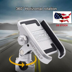 360°Motorcycle Bicycle Bike Handlebar Aluminum Holder For GPS Mobile Cell Phone